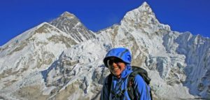 Manasseh is all smiles on top of Kala Pattar (18,200 feet) near Everest Base Camp in Nepal.